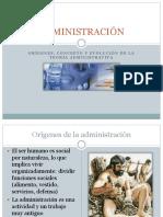 Administración - Origenes, Concepto y Evolución