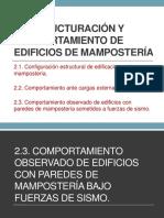 2. Estructuración y Comportamiento de Edificios de Mampostería