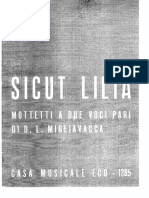 Migliavacca - Antologia ''Sicut Lilia'' (1952)