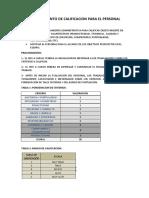 Procedimiento de Calificacion Para El Personal de Forli