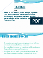 Brand Decision