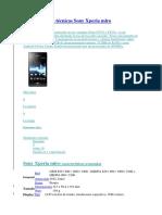 Características Técnicas Sony Xperia Miro