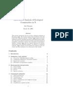R- Vegan Tutorial - Multivariate Analysis of Ecological Communities by Oksanen