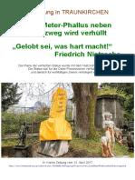 2017-04 Traunkirchen - Phallus mit Nietzsche-Zitat
