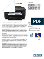 WorkForce WF 7110DTW Datasheet