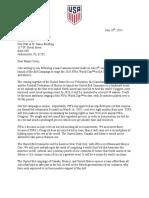 US Soccer Federation Letter to Jacksonville