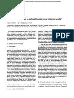 Bases científicas de la rehabilitación neurológica tardía