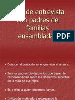 Guia de Entrevista Con Padres de Familias Ensambladas
