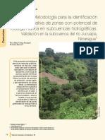 Metodología para la identificación participativa de zonas con potencial de recarga hídrica en subcuencas hidrográficas. Validación en la subcuenca del río Jucuapa, Nicaragua