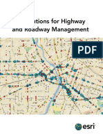 Gis Solutions for Highway and Roadway Management