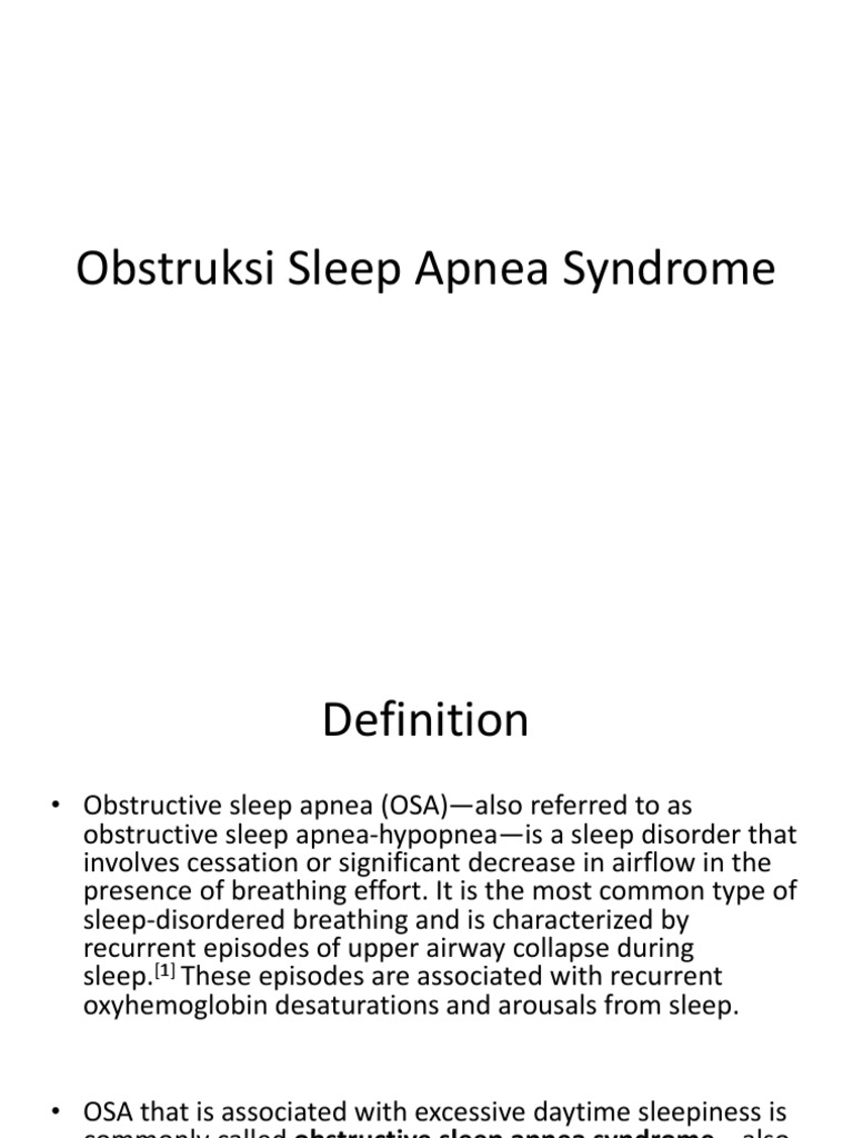 obstruksi sleep apnea syndrome | sleep apnea | psychological states
