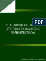 240670931-PT-INCO-Ni-Laterite-Block-Modeling-2010-08-23.pdf
