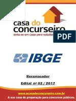 Apostila Ibge 2017 Recenseador