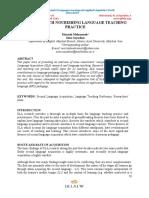 SLA Research Nourishing Language Teaching Practice. (1)