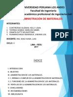 administración de los materiales