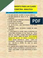 Requerimientos Para Geometría Analitica