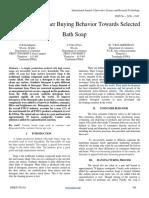 Study on Consumer Buying Behavior Towards Selected Bath Soap