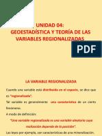 Geoestadística y Teoría de Las Variables Regionalizadas (Condensada)