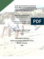 Efecto de Un Plan de Entrenamiento en Pliometría-fútbol