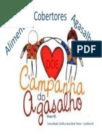 Placa para campanha - agasalhos