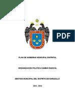 Plan de gobierno Gustavo Sierra (Surquillo Cambio Radical)