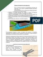 Criterios de Diseño Filtro Drenante