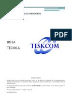 Ejemplo NOTA TECNICA - Perfil de Vano Para Enlaces Microondas