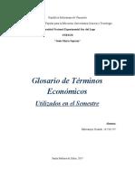 glosario. terminología economica