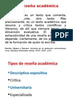 10 Estructura de La Reseña Académica 2017-1