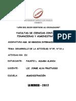 adm. de negocios internacionales -DESARROLLO DE LA ACTIVIDAD N°09, N°10 y ACTIVIDAD RSU. IIU