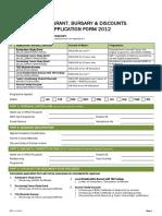 Study Grant, Bursary & Discounts Application Form 2012 - Taylors