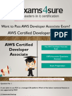 AWS Developer Associate Dumps with 100% Passing Guarantee