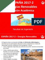 2017-2 Misión Académica Ingenieria a España - Energias Renovables