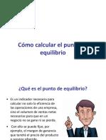 como calcular el punto de equilibrio.ppt