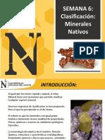 Semana6 - Clasificacion de Minerales Parte1 2017-1