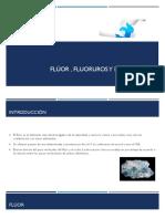 Fluor, Floruros y Fluorosis