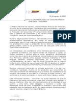 COMUNICADO ASOCIACIONES Vzlanas y Colombianas Firmado