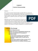 Assignment  Entrepreneurship Management