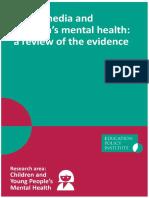Social Media Mental Health EPI Report