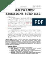 Volkswagen Emmissions Scandal