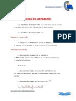 Medidas de DispersiónEJERCICIOS