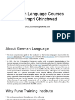 German Language Courses - Classes in Pimpri- Chinchwad Pune | Pune Training Institute