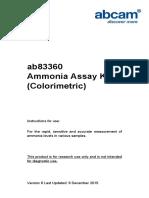 Ab83360 Ammonia Assay Kit Protocol v6 (Website)