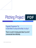 Product Pitches