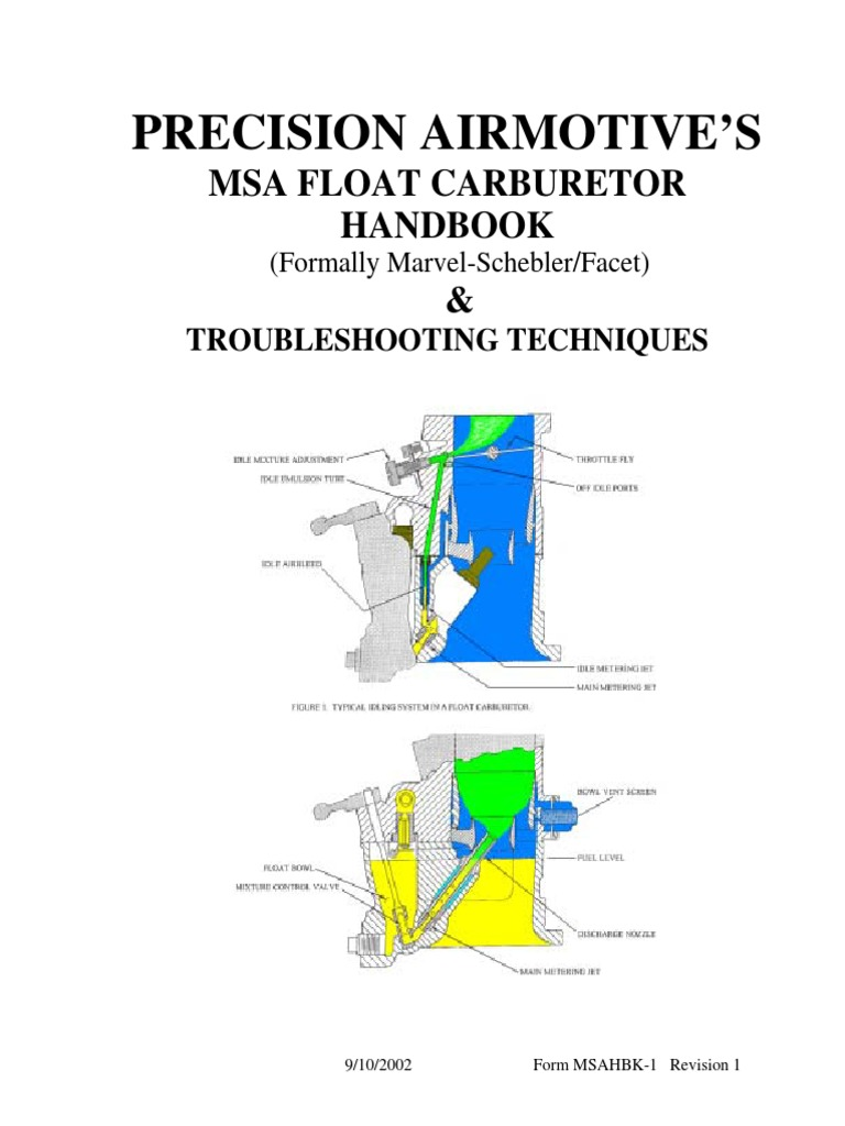 MA-4 Carb Manual | Carburetor | Throttle