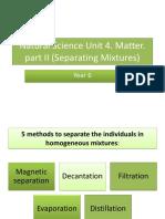 NSc U4 Matter. (part ii)