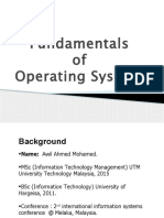 Chapter One Fundamentals of Operating System