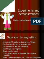 Experiments U4 (separating mixtures)