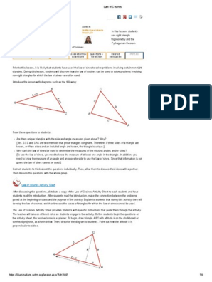 Law of Cosines | Trigonometric Functions | Trigonometry