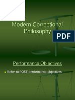 Modern Correctional Philosophy- Revised 12.24.15